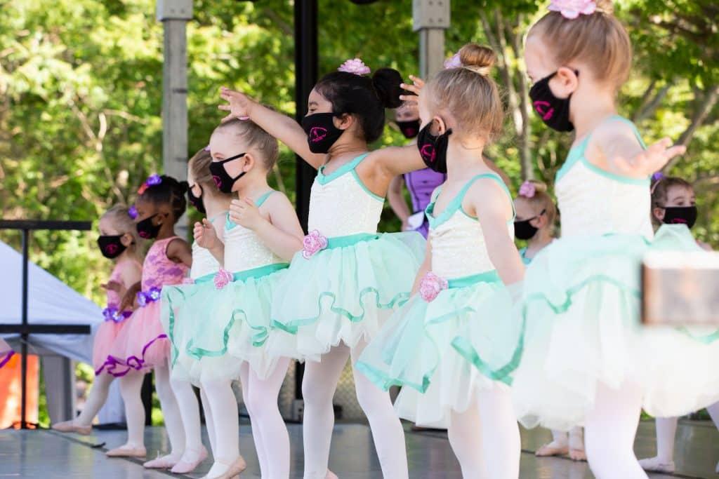dancers at outdoor recital