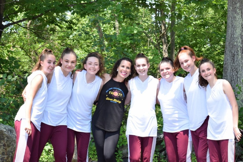 Miss deb with dancers at recital 2021